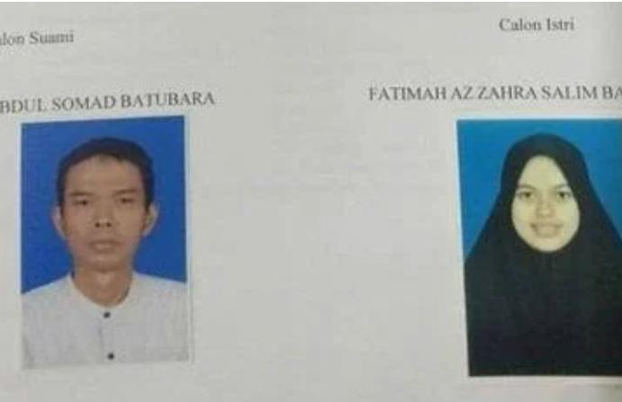 Berkas pernikahan Ustad Abdul Somad dan Istri.