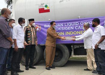 Kadin Indonesia Salurkan 20 Metrik Ton Oksigen kepada RSUZA Banda Aceh