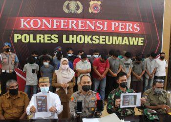 Polisi Ciduk 22 Pemain Judi Online Chip Domino di Lhokseumawe