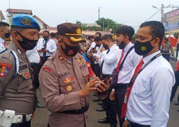 Handphone Personel Polres Lhokseumawe Diperiksa